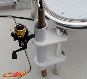 Marine cup holders and rod holders for boats